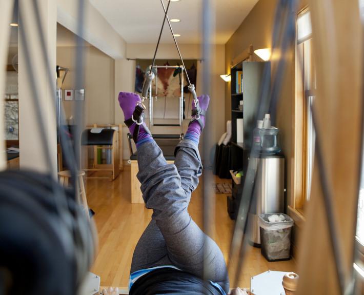gyrotonic feet straps